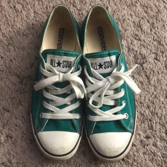 c78a6fdac52c Converse Shoes - Converse dainty low top teal women s size 7